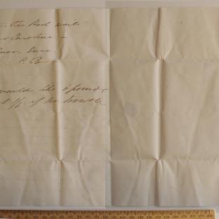 Bevan letter - 17 Aug 1831 - third unfold back