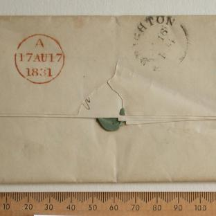 Bevan letter - 17 Aug 1831 - back