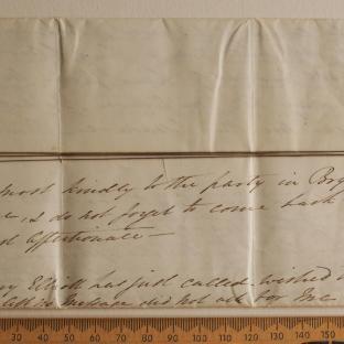 Bevan letter - 18 Aug 1831 - first unfold back