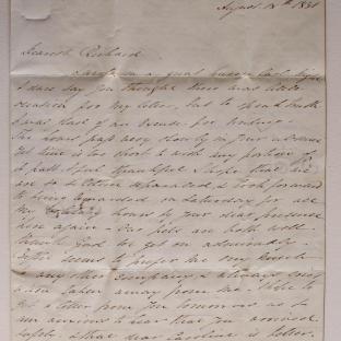 Bevan letter - 18 Aug 1831 - second unfold back