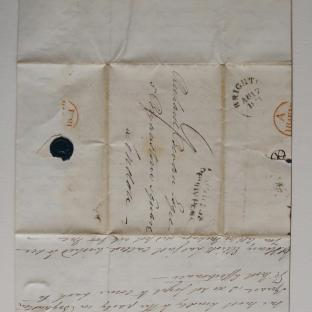 Bevan letter - 18 Aug 1831 - second unfold front