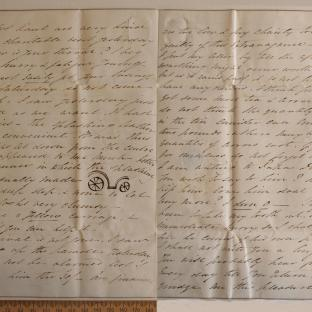 Bevan letter - 18 Aug 1831 - third unfold back