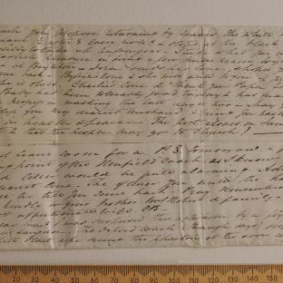 Bevan letter - 15 Jun 1834 - first unfold back