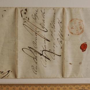 Bevan letter - 15 Jun 1834 - first unfold front