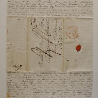 Bevan letter - 15 Jun 1834 - second unfold front