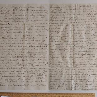 Bevan letter - 15 Jun 1834 - third unfold back