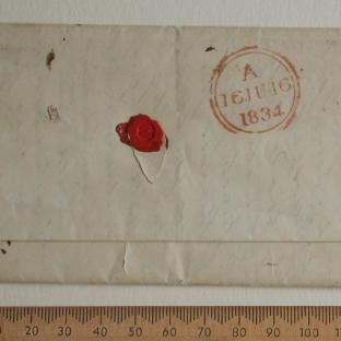 Bevan letter - 15 Jun 1834 - back