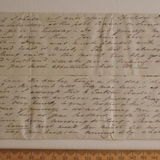Bevan letters - 18 Jun 1834 - first unfold back
