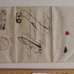 Bevan letter - 18 Jun 1834 - first unfold front