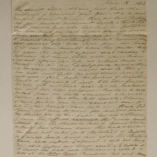 Bevan letter - 18 Jun 1834 - second unfold back