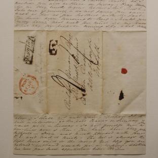 Bevan letter - 18 Jun 1834 - second unfold front