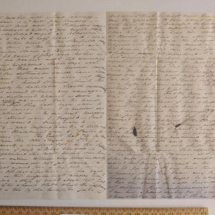 Bevan letter - 18 Jun 1834 - third unfold back