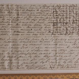 Bevan letter - 21 Jun 1834 - first unfold back