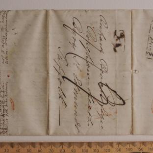Bevan letter - 21 Jun 1834 - first unfold front