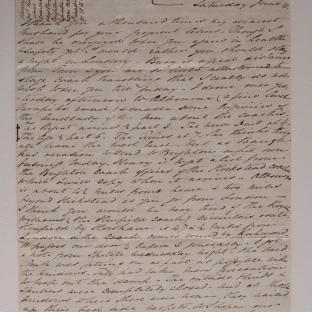 Bevan letter - 21 Jun 1834 - second unfold back