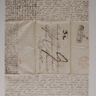 Bevan letter - 21 Jun 1834 - second unfold front