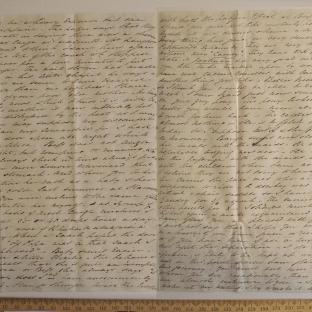 Bevan letter - 21 Jun 1834 - third unfold back
