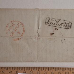 Bevan letter - 21 Jun 1834 - back