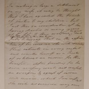 Bevan letter - 8 Mar 1849 - second unfold back