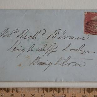 Bevan letter - 18 Nov 1856 - front