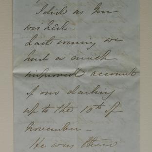 Bevan letter - 21 Nov 1856 - page one