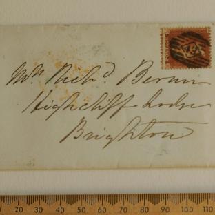 Bevan letter - 21 Nov 1856 - front
