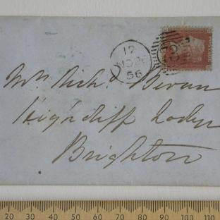 Bevan letter - 26 Nov 1856 - front