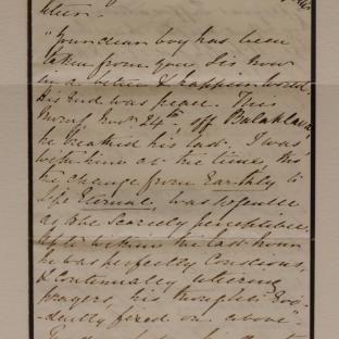 Bevan letter - 2 Dec 1856 - page one