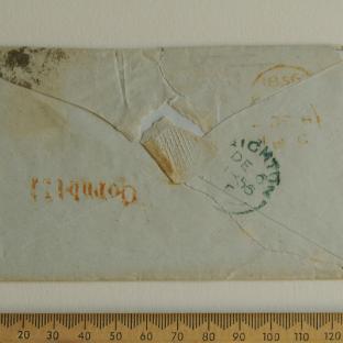 Bevan letter - 6 Dec 1856 - back