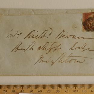Bevan letter - 6 Dec 1856 - front