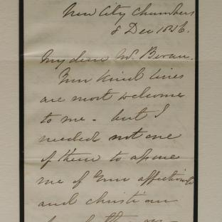 Bevan letter - 8 Dec 1856 - page one