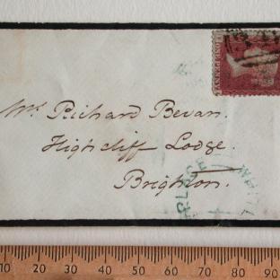 Bevan letter - 12 Dec 1856 - front