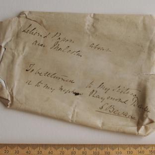 Bevan letter - 15 Dec 1856 - front