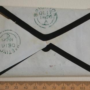 Bevan letter - 16 Dec 1856 - back