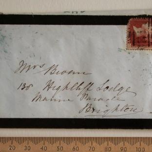 Bevan letter - 16 Dec 1856 - front