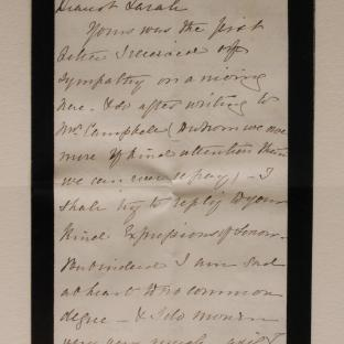Bevan letter - 16 Dec 1856 - page one