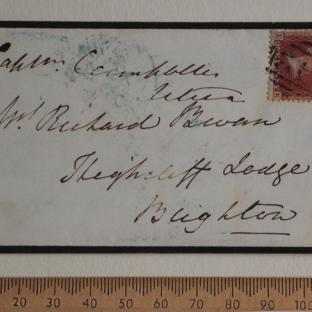 Bevan letter - 19 Dec 1856 - front