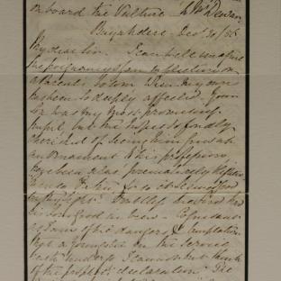 Bevan letter - 30 Dec 1856 - page one