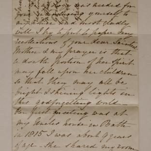 Bevan letter - 27 Nov 1870 - page one