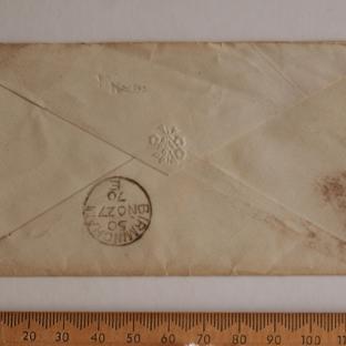 Bevan letter - 27 Nov 1870 - back