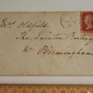 Bevan letter - 27 Nov 1870 - front