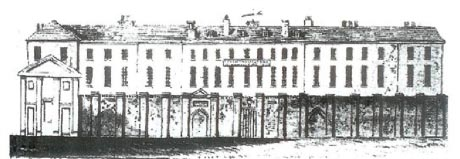 Drawing of the front elevation of the old Brighton Workhouse